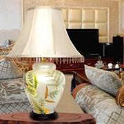 BOXIMIYA波西米亚 田园 琉璃装饰台灯 客厅卧室 2045-2手绘花草古典艺术