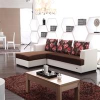quanu全友 韩式田园 客厅套餐 布艺沙发+环保板式茶几 e23199-78901
