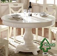linshimuye林氏木业 韩式 木质 圆桌/餐桌/餐台/饭桌 kt126