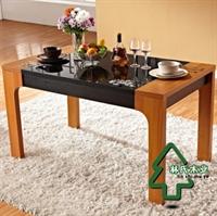 linshimuye林氏木业 现代中式 玻璃 餐桌/饭桌/餐台 kt801