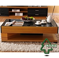 linshimuye林氏木业 现代中式 玻璃 茶几/长几 kj801