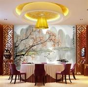 MESU米素 现代中式 壁画 卧室客厅电视背景墙 江南 zs000820山水画