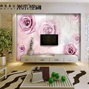 MESU米素 简约现代 壁画 卧室电视背景墙 铿锵玫瑰JY-0905