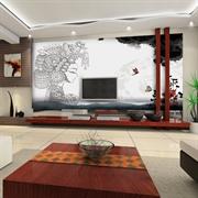 MESU米素 现代中式 壁画 卧室客厅电视背景墙 水墨丽影XZS-001