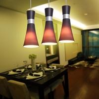 【新品】nvc雷士 简约现代 三头餐吊灯 餐厅 nud1489-3