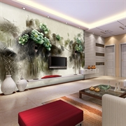 MESU米素 现代中式 壁画 卧室客厅 ZG-0072盎然山水画