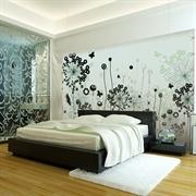 MESU米素 简约现代 壁画 婚房客厅卧室电视背景墙 动感JY004