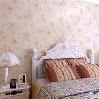yulan玉兰 田园 pvc墙纸 客厅书房卧室 npp036006花之物语仿丝绸壁纸