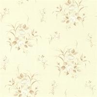 yulan玉兰 欧式 pvc墙纸 客厅卧室书房 花之物语132501