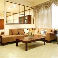 华日家具 小窗岁月 中式现代简约 卧室客厅 实木布艺沙发组合