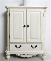 华日家居美式田园家具洛可可实木框架鞋柜门厅柜储物柜c044115