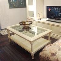 华日家居洛可可家具实木长茶几客厅简约茶几c099413