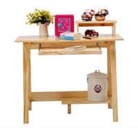 喜梦宝实木家具青少年儿童松木台式电脑桌 书桌 学习桌