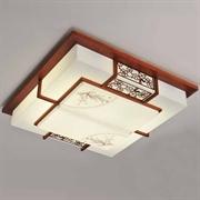 雷士照明 吸顶灯 中式羊皮灯 客厅灯 书房灯具 NSX1423-4*45桃木