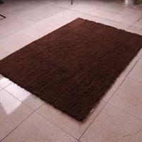 恒亚斯地毯 超细雪尼尔 防滑底 茶几地毯 140*200cm咖啡