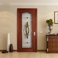 乐淘淘 实木复合门玻璃门室内门书房门木门 bl010