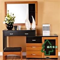 林氏木业新中式梳妆台镜组合 玻璃 时尚功能小化妆台kc801