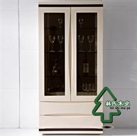 林氏木业现代时尚玻璃酒柜 简约烤漆陈列柜装饰柜 酒水柜家具1079