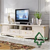 林氏木业-美式田园电视柜 实木脚家具 欧式电视机柜地柜kn150