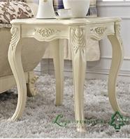 林氏木业实木雕刻欧式客厅茶几 客厅田园茶几小方几 rj8039b
