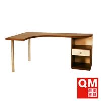 曲美家具 书房木质 转角字台 现代简约办公桌 书桌 09zst3-1r
