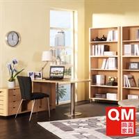 曲美家具 现代简约 储物柜+字台组合 电脑桌抽屉柜 书桌sh-t-2-3l