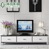 林氏木业电视柜烤漆客厅矮柜 现代简约不锈钢电视机柜y-tv210