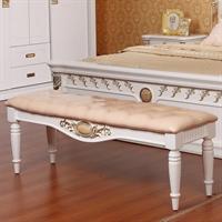 永旭家具你的理想之家 床尾凳 实木 白色 3068