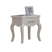 迪诺雅 华尔兹板木家具bg-6105床头柜 白色田园 欧式储物柜收纳柜