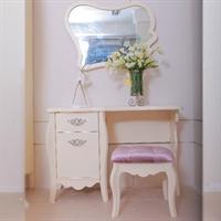 迪诺雅现代时尚欧式卧室家私st-6102梳妆台连镜sd-6101妆凳妆凳