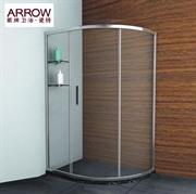 箭牌 AL028 整体淋浴房 移门式  弧扇形