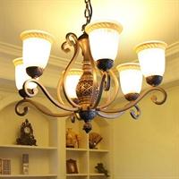 波西米亚灯具欧式六头吊灯简约地中海创意客厅餐厅卧室灯饰2964