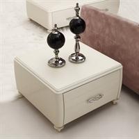 鑫桂钢化玻璃角几 小茶几现代简约时尚白色角几边几创意桌子