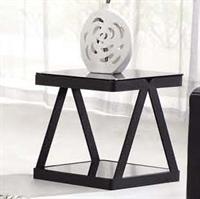 鑫桂烤漆角几时尚黑色钢化玻璃现代简约沙发边几边桌客厅电话架小茶几