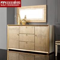 田田家园家具—后现代鳄鱼纹皮储物柜8248