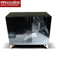 田田家园家具 现代简约餐边柜 不锈钢水晶储物餐边柜 6559#