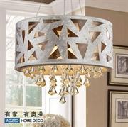 中式时尚水晶吊灯餐厅灯具饭厅客厅灯创意卧室灯饰10080