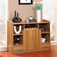 派森家具 现代简约时尚餐边柜 多功能厨房柜 储物柜 板木酒柜 ps-cbg001