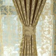 艾尚佳 人造丝双染大提花客厅卧室成品窗帘布料