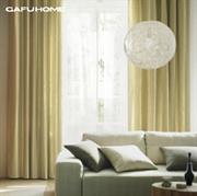 Gafuhome现代简约 高档加厚压花绒布遮光窗帘 隐约条纹