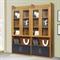 派森家具 简约时尚组合书柜 书房板木书架柜自由组合简易书架 四门书柜PS-SG001-4(2+2)