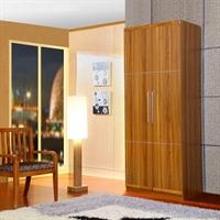 派森家具 简约板木两门衣柜 卧室衣橱 ps-yg002