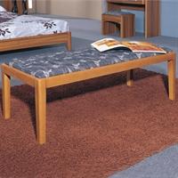 派森家具 简约布艺沙发凳卧室长条凳化妆换鞋凳子欧式实木床尾凳