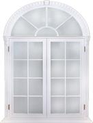 白色欧式圆顶窗