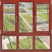 中式红棕木色窗