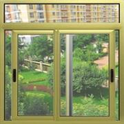 绿色铝合金推拉窗