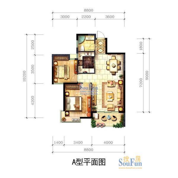 天通苑二居一厅一卫87.00m²